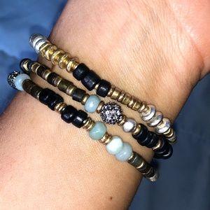 EUC Stella & Dot Artisan Stretch Bracelets